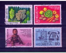 1976 - LOTTO/SVI1002CPU - SVIZZERA - PROPAGANDA 4v. - USATI