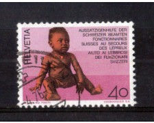 1976 - LOTTO/SVI1001U - SVIZZERA - 40c. AIUTO AI LEBBROSI - USATO