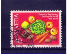 1976 - LOTTO/SVI1000U - SVIZZERA - 40c. ALIMENTI SANI - USATO