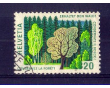 1976 - LOTTO/SVI999U - SVIZZERA - 20c. CONVENZIONE FORESTALE - USATO