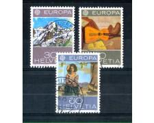 1975 - LOTTO/SVI982CPU - SVIZZERA - EUROPA 3v. - USATI