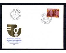 1975 - LOTTO/SVI977FDC - SVIZZERA - 30c. ANNO DELLA DONNA - FDC