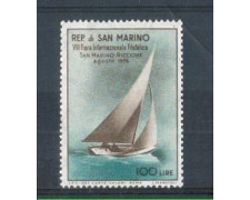 1956 - LOTTO/RSM449L - SAN MARINO - 8° FIERA FILATELICA LING.