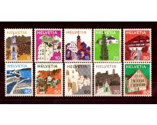 1973 - LOTTO/SVI942CPN - SVIZZERA - PAESAGGI 10v. - NUOVI