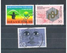 1973 - LOTTO/SVI932CPU - SVIZZERA - PROPAGANDA 3v. - USATI
