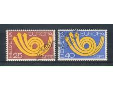 1973 - LOTTO/SVI925CPU - SVIZZERA - EUROPA 2v. - USATI