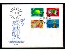 1968 - LOTTO/SVI814FDC - SVIZZERA - PROPAGANDA 4v. - BUSTA FDC