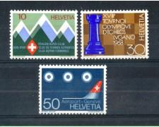 1968 - LOTTO/SVI805CPN - SVIZZERA - PROPAGANDA 3v. - NUOVI