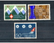1968 - LOTTO/SVI805CPU - SVIZZERA - PROPAGANDA 3v. - USATI