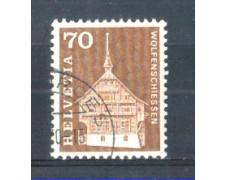 1967 - LOTTO/SVI795U - SVIZZERA - 70c. EDIFICI STORICI - USATO