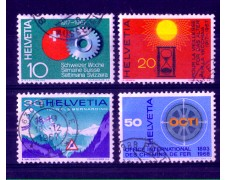 1967 - LOTTO/SVI794CPU - SVIZZERA - PROPAGANDA 4v. - USATI