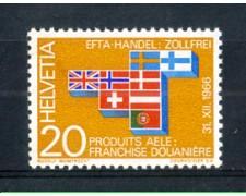 1967 - LOTTO/SVI785N - SVIZZERA - 20c. E.F.T.A. - NUOVO