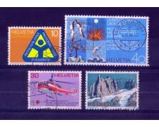 1972 - LOTTO/SVI908CPU - SVIZZERA - PROPAGANDA 4v. - USATI