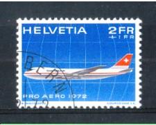 1972 - LOTTO/SVIA47U - SVIZZERA - 2+1 Fr. PRO AEREO - USATO