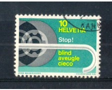 1967 - LOTTO/SVI784U - SVIZZERA - 10c. AIUTO AI CIECHI - USATO
