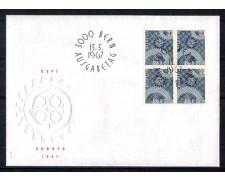 1967 - LOTTO/SVI783FDCQ - SVIZZERA - 30c. EUROPA - BUSTA FDC QUARTINA