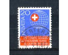 1966 - LOTTO/SVI774U - SVIZZERA - 20c. QUINTA SVIZZERA - USATO
