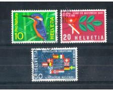 1966 - LOTTO/SVI768CPU - SVIZZERA -  PROPAGANDA 3v. - USATI