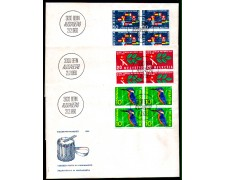 1966 - LOTTO/SVI768FDCQ - SVIZZERA - PROPAGANDA 3v. - BUSTA FDC QUARTINE