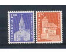 1966 - LOTTO/SVI765CPN - SVIZZERA - EDIFICI STORICI 2v. - NUOVI