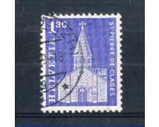 1966 - LOTTO/SVI764U - SVIZZERA - 1,30 Fr. EDIFICI STORICI - USATO