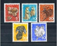 1965 - LOTTO/SVI763CPN - SVIZZERA - PRO JUVENTUTE 5v. - NUOVI