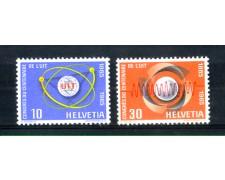 1965 - LOTTO/SVI757CPN - SVIZZERA - CENTENARIO U.I.T. 2v. - NUOVI