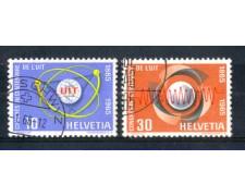 1965 - LOTTO/SVI757CPU - SVIZZERA - CENTENARIO U.I.T. 2v. - USATI