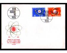1965 - LOTTO/SVI757FDC - SVIZZERA - CENTENARIO U.I.T. - BUSTA FDC