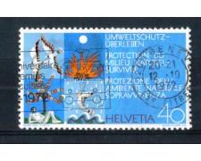1972 - LOTTO/SVI908U - SVIZZERA - 40c. PROTEZIONE AMBIENTE - USATO
