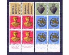 1972 - LOTTO/SVI904CPNQ - SVIZZERA - PRO PATRIA 4v. - QUARTINE NUOVE
