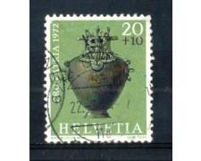 1972 - LOTTO/SVI902U - SVIZZERA - 20+10c. PRO PATRIA - USATO