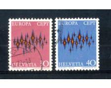 1972 - LOTTO7SVI900CPU - SVIZZERA - EUROPA 2v. - USATI
