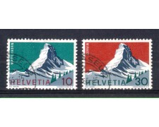 1965 - LOTTO/SVI754CPU - SVIZZERA - MONTE CERVINO 2v. - USATI