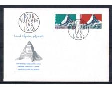 1965 - LOTTO/SVI754FDC - SVIZZERA - MONTE CERVINO 2v. - BUSTA FDC