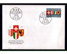 1965 - LOTTO/SVI752FDC - SVIZZERA - NUOVI CANTONI  - BUSTA FDC