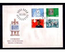 1965 - LOTTO/SVI746FDC - SVIZZERA - PROPAGANDA 4v. - BUSTA FDC