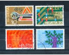1972 - LOTTO/SVI898CPU - SVIZZERA - PROPAGANDA 4v. - USATI