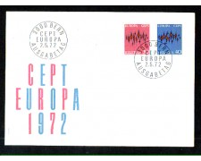 1972 - LOTTO/SVI900FDC - SVIZZERA - EUROPA 2v. - BUSTA FDC