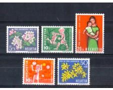 1962 - LOTTO/SVI704CPN - SVIZZERA - PRO JUVENTUTE 5v. - NUOVI