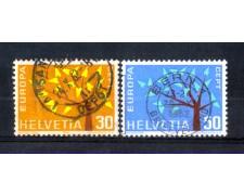 1962 - LOTTO/SVI699CPU - SVIZZERA - EUROPA 2v.- USATI