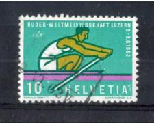 1962 - LOTTO/SVI690U - SVIZZERA - 10c. CANOTTAGGIO - USATO
