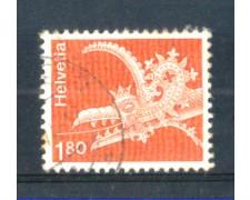 1973 - LOTTO/SVI820U - SVIZZERA - 1,80 Fr. DRAGONE - USATO