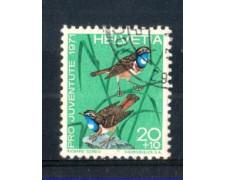 1971 - LOTTO/SVI982U - SVIZZERA - 20+10c- PRO JUVENTUTE - USATO