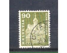 1960 - LOTTO/SVI656U - SVIZZERA - 90c. TORRE A SCIAFUSA - USATO