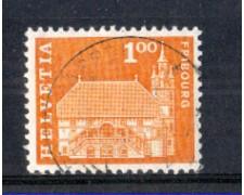 1960 - LOTTO/SVI657U - SVIZZERA - 1 Fr. MUNICIPIO FRIBURGO - USATO
