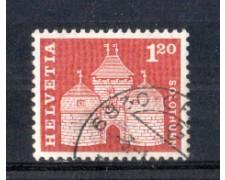 1960 - LOTTO/SVI658FLU - SVIZZERA - 1.20 Fr. PORTA A SOLETTA CARTA FLUORESCENTE - USATO