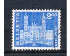 1960 - LOTTO/SVI660U - SVIZZERA - 2 Fr. CHIESA DI EINSIEDELN - USATO