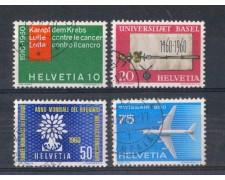 1960 - LOTTO/SVI642CPU - SVIZZERA - PROPAGANDA 4v. - USATI