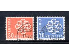 1959 - LOTTO/SVI631CPU - SVIZZERA - EUROPA 2v. - USATI